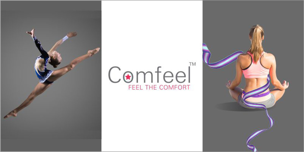 "Comfeel"" a synthetic textured performance yarn by AYM Syntex limited"